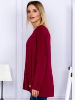 Bluzka damska oversize bordowa                                  zdj.                                  5