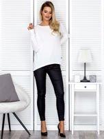 Bluzka damska oversize z długim rękawem ecru                                  zdj.                                  4