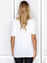 Bluzka damska z lejącym dekoltem ecru                                  zdj.                                  2