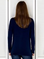 Bluzka damska z motywem perfum i dżetami granatowa                                  zdj.                                  5