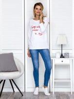 Bluzka damska z napisem biała                                  zdj.                                  4
