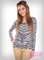 Bluzka z motywem zebry                                                                          zdj.                                                                         1