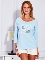 Bluzka z trampkami jasnoniebieska                                  zdj.                                  1