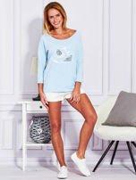 Bluzka z trampkami jasnoniebieska                                  zdj.                                  4