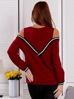 Bordowa bluza z ukośnymi ściągaczami                                  zdj.                                  2