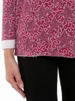 Bordowa bluzka z surowym wykończeniem we wzór gwiazd                                  zdj.                                  6