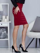 Bordowa spódnica z imitacji zamszu                                  zdj.                                  4