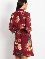 Bordowa sukienka Supply                                  zdj.                                  2