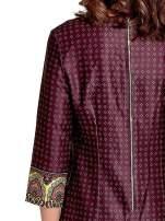 Bordowa sukienka w indyjskim stylu                                                                           zdj.                                                                         5