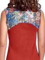 Bordowa sukienka z kwiatową koronką                                                                          zdj.                                                                         6