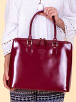 Bordowa torba damska z odpinanym paskiem                                  zdj.                                  5