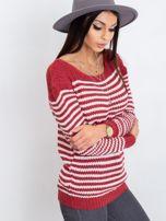 Bordowy sweter Oscar                                  zdj.                                  3