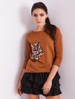 Brązowa bluzka z motywem zwierzęcym                                  zdj.                                  12