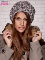 Brązowa czapka z melanżową nicią                                  zdj.                                  1