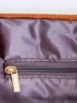 Brązowa kopertówka z dżetami motyw ust                                                                          zdj.                                                                         6