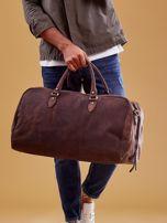 Brązowa skórzana męska torba podróżna                                  zdj.                                  2