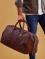 Brązowa skórzana męska torba podróżna                                  zdj.                                  11