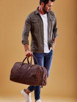Brązowa skórzana męska torba podróżna                                  zdj.                                  12