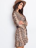 Brązowa sukienka Shock                                  zdj.                                  3