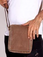 Brązowa torba męska skórzana na ramię                                  zdj.                                  1
