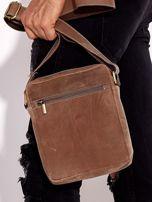 Brązowa torba męska skórzana na ramię                                  zdj.                                  7