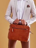 Brązowa torba męska z odpinanym paskiem                                  zdj.                                  8