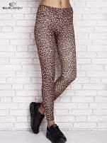 Brązowe legginsy animal print                                  zdj.                                  1