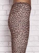 Brązowe legginsy animal print                                  zdj.                                  5