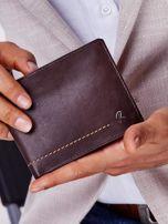 Brązowy miękki portfel męski skórzany                                  zdj.                                  1