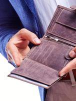 Brązowy portfel męski przecierany                                  zdj.                                  4