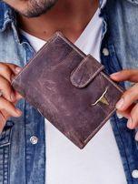Brązowy portfel męski skórzany z przetarciami                                  zdj.                                  3
