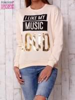 Żółta bluza z napisem I LIKE MY MUSIC LOUD                                                                          zdj.                                                                         1