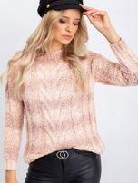Brzoskwiniowy sweter Harper                                  zdj.                                  3