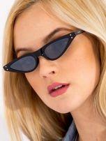 CAT EYE Czarne damskie okulary przeciwsłoneczne KOCIE OCZY                                  zdj.                                  2