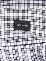 CERRUTI Ecru koszula męska w kratę                                  zdj.                                  4