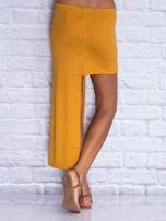 Camelowa asymetryczna spódnica                                  zdj.                                  2