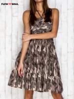 Ciemna moro sukienka na gumkę FUNK N SOUL                                  zdj.                                  1