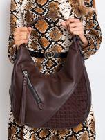 Ciemnobrązowa torba z suwakami                                  zdj.                                  6