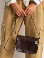 Ciemnobrązowa torebka damska ze skóry naturalnej                                  zdj.                                  5