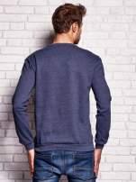 Ciemnoniebieska bluza męska z napisem IF YOU'RE HOT I'M SINGLE                                  zdj.                                  2