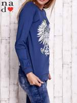 Ciemnoniebieska bluza z godłem                                                                          zdj.                                                                         3