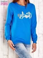 Ciemnoniebieska bluza z napisem NO LIMITS                                  zdj.                                  3
