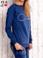 Ciemnoniebieska bluza z napisem SMILER                                  zdj.                                  3