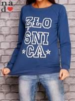 Ciemnoniebieska bluza z napisem ZŁOŚNICA                                  zdj.                                  1