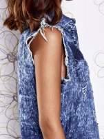 Ciemnoniebieska dekatyzowana sukienka jeansowa o kroju tuniki                                  zdj.                                  8