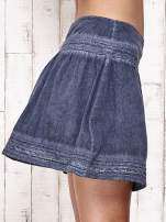 Ciemnoniebieska spódnica z efektem dekatyzowania                                  zdj.                                  9