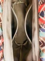 Ciemnoniebieska torba gumowa z motywem azteckim                                                                          zdj.                                                                         7