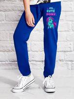 Ciemnoniebieskie spodnie dresowe dla dziewczynki LITTLE CUTE PONY                                  zdj.                                  1