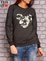 Ciemnoszara bluza z nadrukiem moro                                  zdj.                                  1