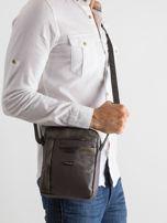Ciemnoszara męska torba na ramię                                  zdj.                                  1